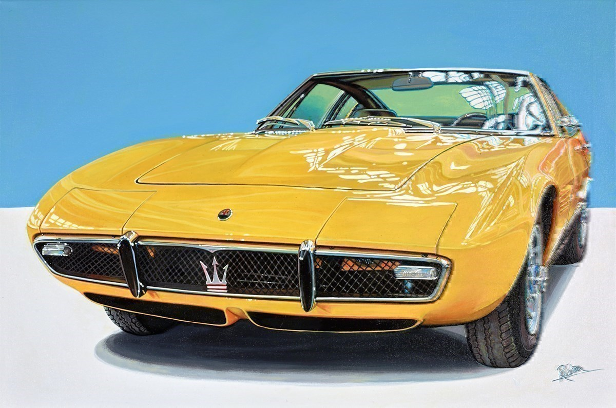 1968 Maserati Ghibli Berlinetta, Chassis No. AM 115578, Originally Owned By Entertainer Sammy Davis Jr by Roz Wilson -  sized 36x24 inches. Available from Whitewall Galleries
